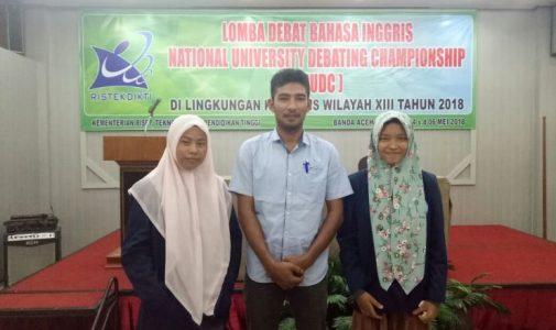 Mahasiswi S-1 Prodi Pmat Tembus 16 Besar National University Debate Championship (NUDC)