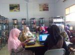 Suasana belajar di perpustakaan STKIP BBM