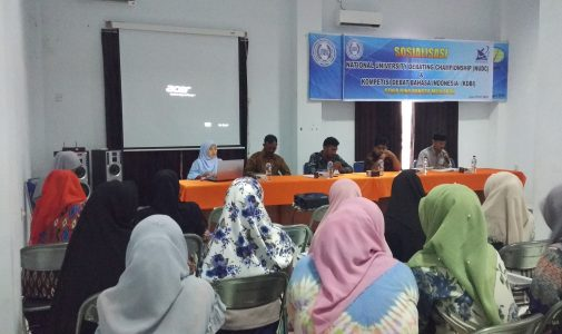 Seleksi Internal National University Debating Championship (NUDC) dan Kompetensi Debat Bahasa Indonesia (KDBI)
