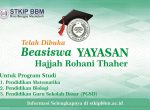 Telah dibuka Beasiswa Yayasan hajjah Rohani Thaher
