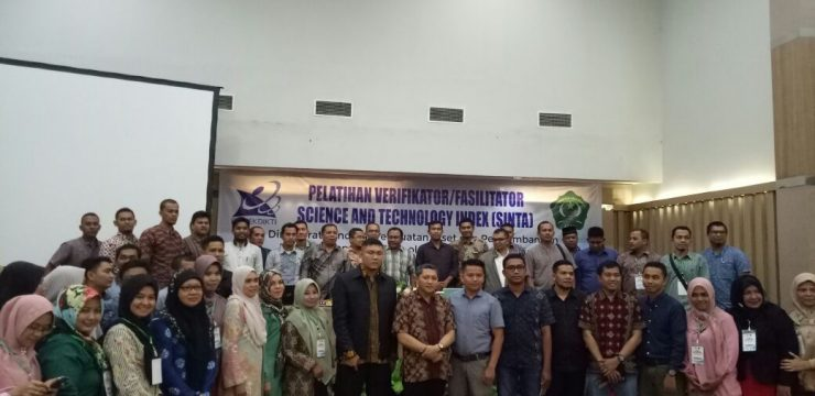 Kegiatan Pelatihan Verifikator/Fasilitator Science and Technology Index(SINTA)