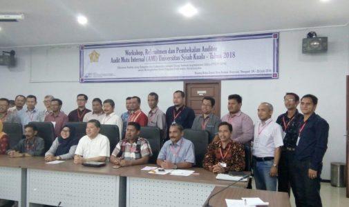 Workshop, Rekrutmen dan Pembekalan Auditor Audit Mutu Internal