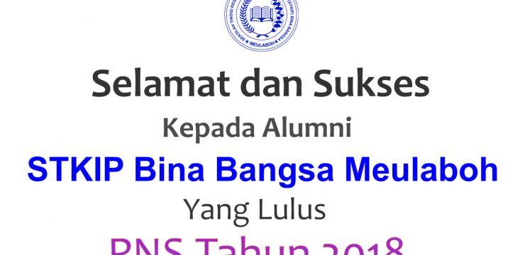 STKIP BBM Mengucapkan Selamat Kepada Alumni yang Lulus PNS Tahun 2018
