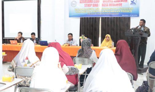 Kerjasama LLDIKTI Wilayah XIII dengan STKIP Bina Bangsa Meulaboh (Monev Tata Kelola Penyelenggaraan PDDIKTI)