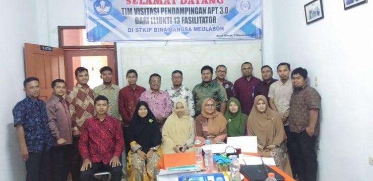 Tim Vitasi Pendampingan APT 3.0 dari LLDIKTI 13 Fasilitator di STKIP Bina Bangsa Meulaboh