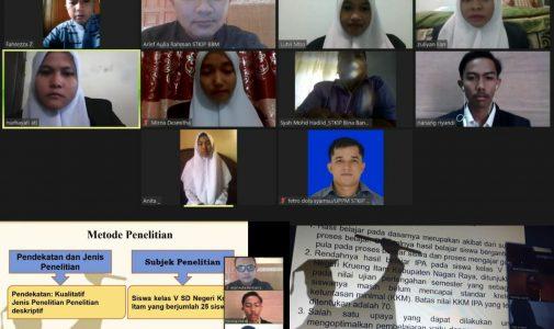 Mahasiswa STKIP Bina Bangsa Meulaboh Lakukan Seminar Proposal Virtual di masa Pandemic Covid-19