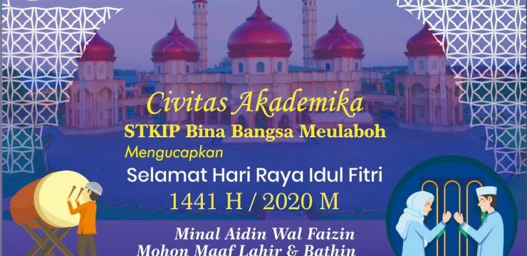 Selamat Hari Raya Idul Fitri 1441 H Minal Aidin wal faizin mohon maaf lahir & bathin