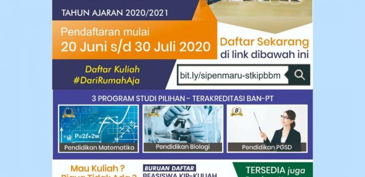 Telah Dibuka Penerimaan Mahasiwa Baru Gelombang 2 Tahun Ajaran 2020/2021