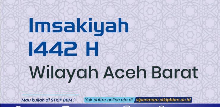 Imsakiyah 1442 H untuk Wilayah Aceh Barat